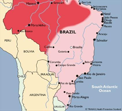 brazília térkép Mindent a maláriáról brazília térkép